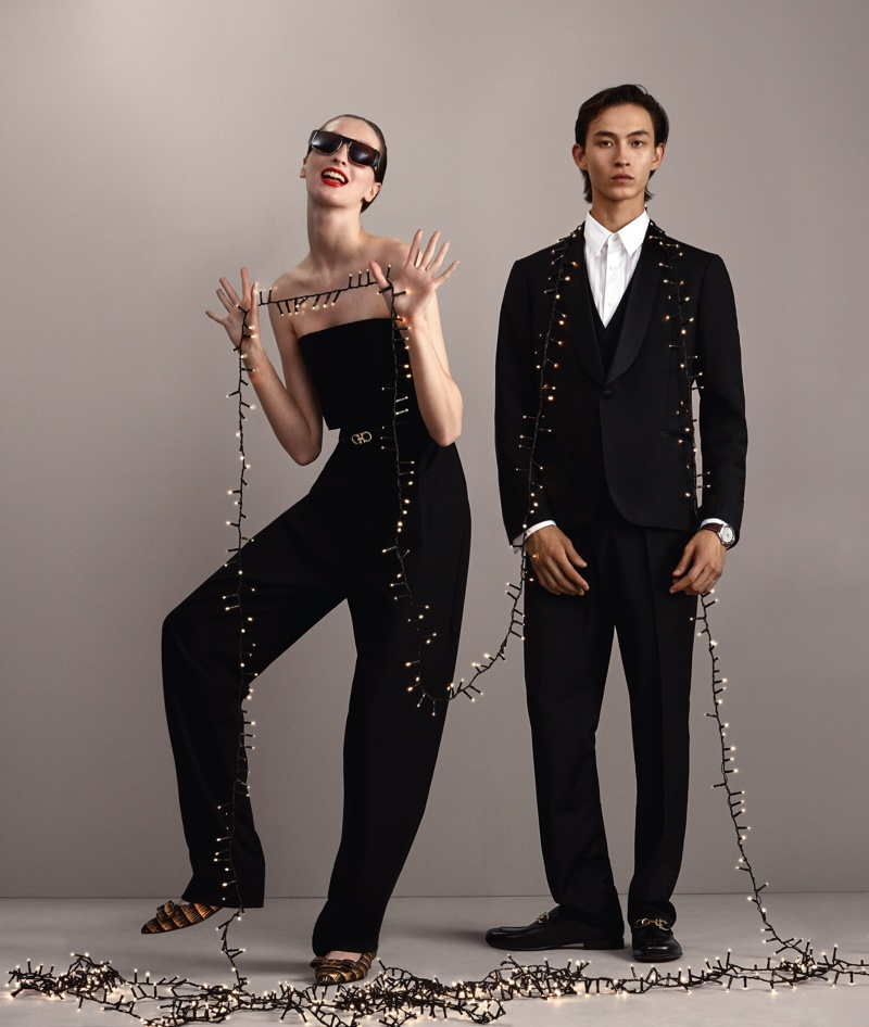 Salvatore Ferragamo gets festive for its Holiday 2020 campaign.