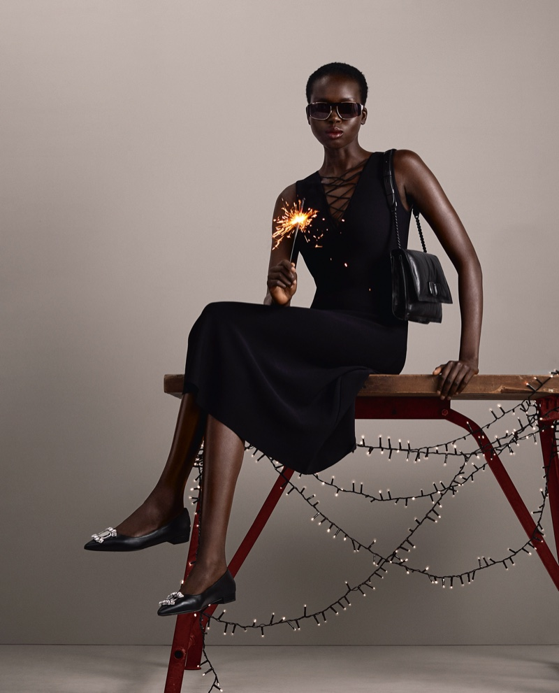 An image from Salvatore Ferragamo's Holiday 2020 campaign.