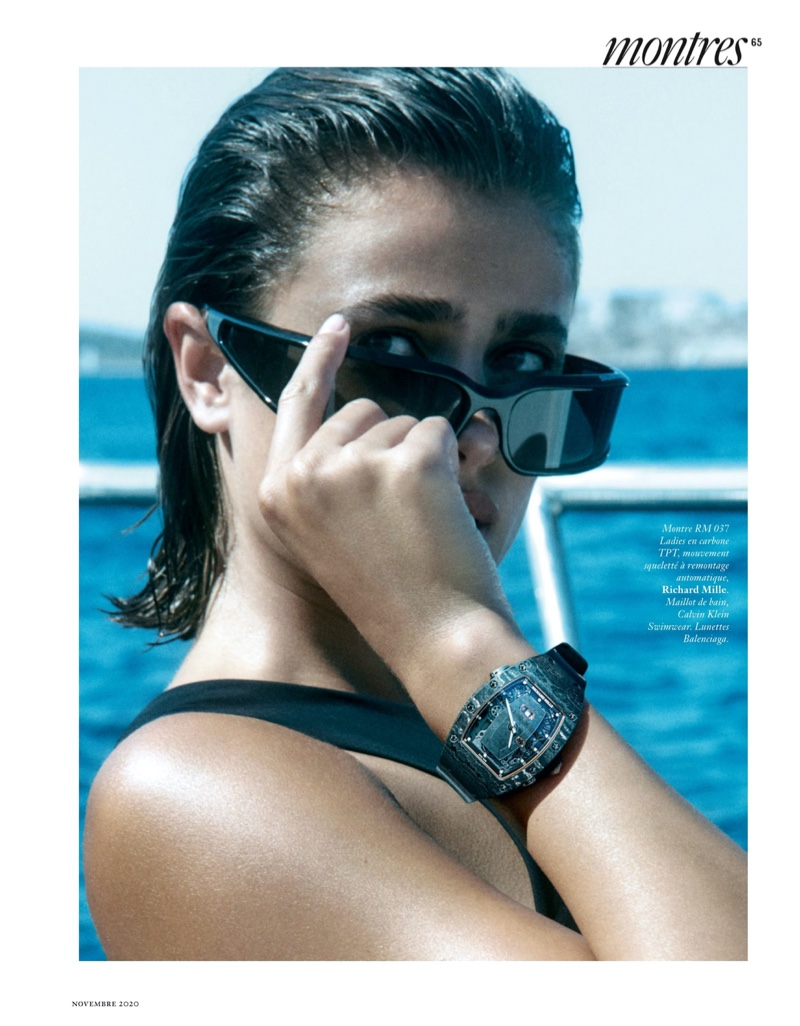 Taylor Hill Goes On a Deep Dive for Vogue Paris