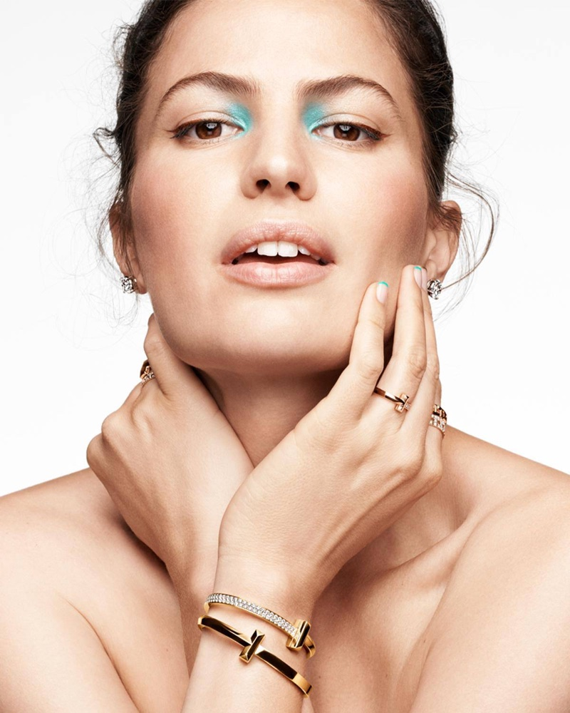 Cameron Russell fronts Tiffany & Co. Holiday 2020 campaign.