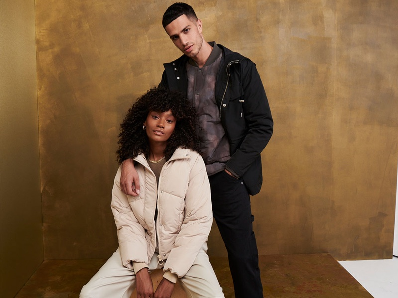 Chey Maya and boyfriend Ashton Gohil front Topshop Christmas 2020 campaign.