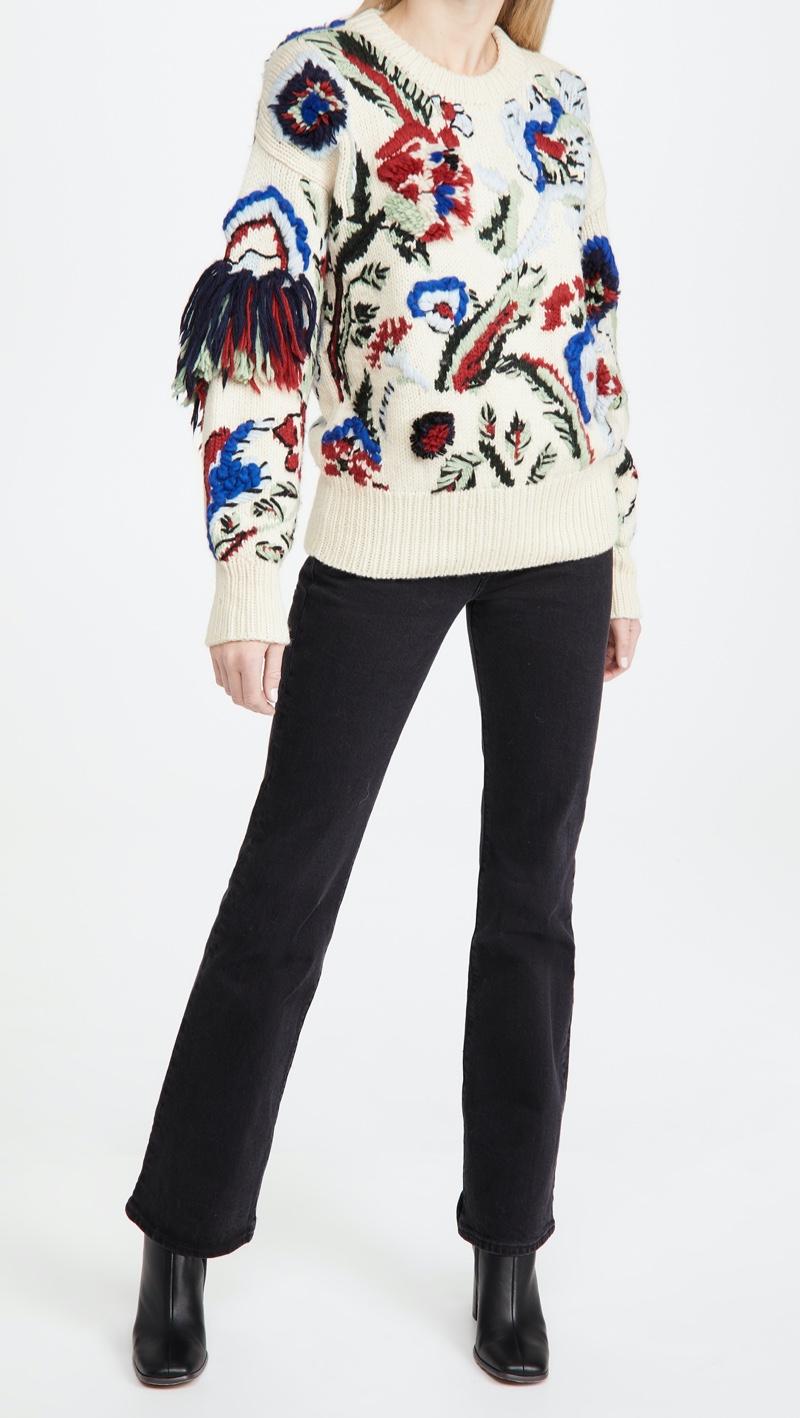 Tory Burch Hand Knit Intarsia Sweater $798