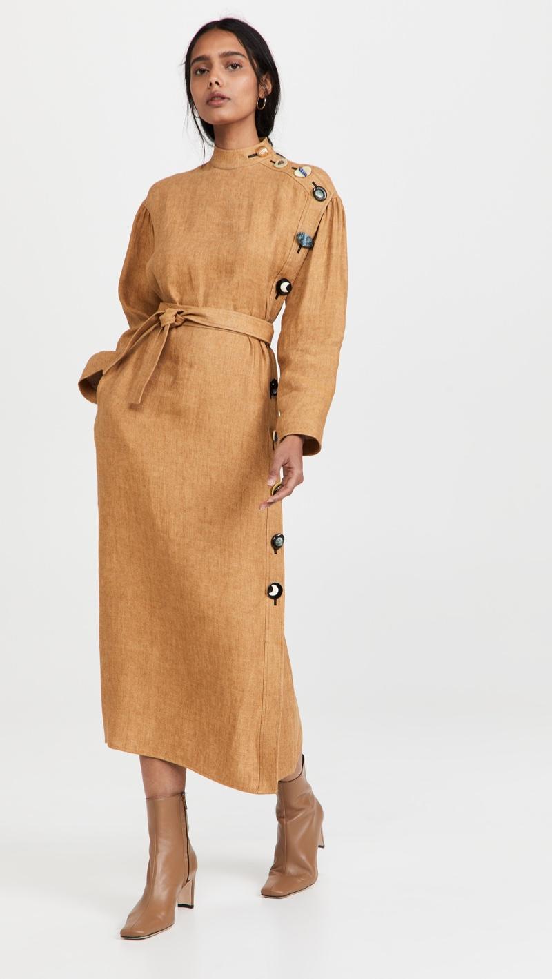 Tory Burch Linen Button Dress $698