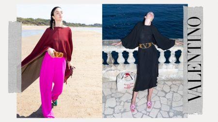 Mariacarla Boscono stars in Valentino Resort 2021 campaign.