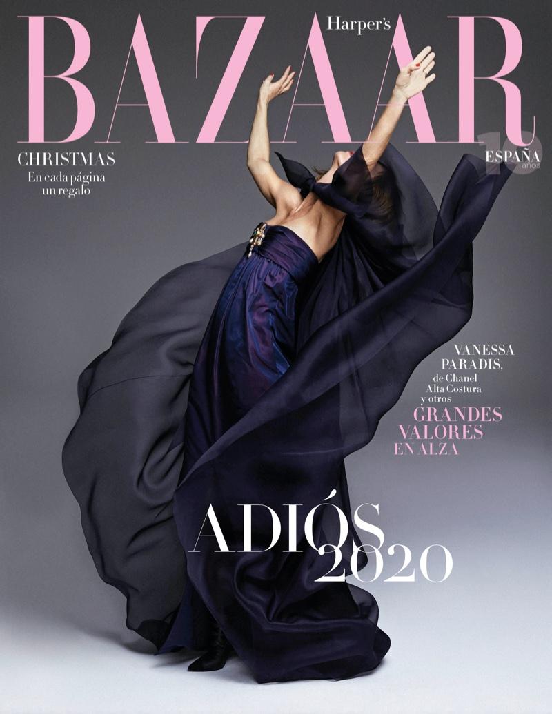 Xavi Gordo photographs Vanessa Paradis for Harper's Bazaar Spain.