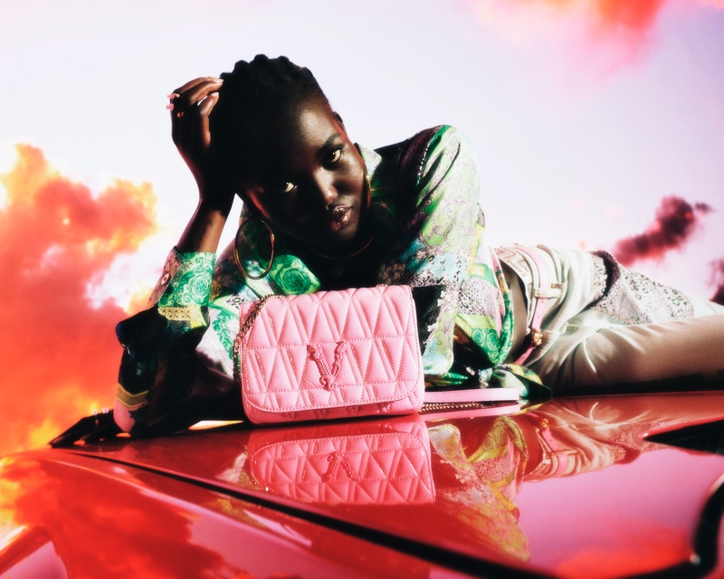 Irina, Adut, Mika Go for a Drive in Versace Holiday 2020 Campaign