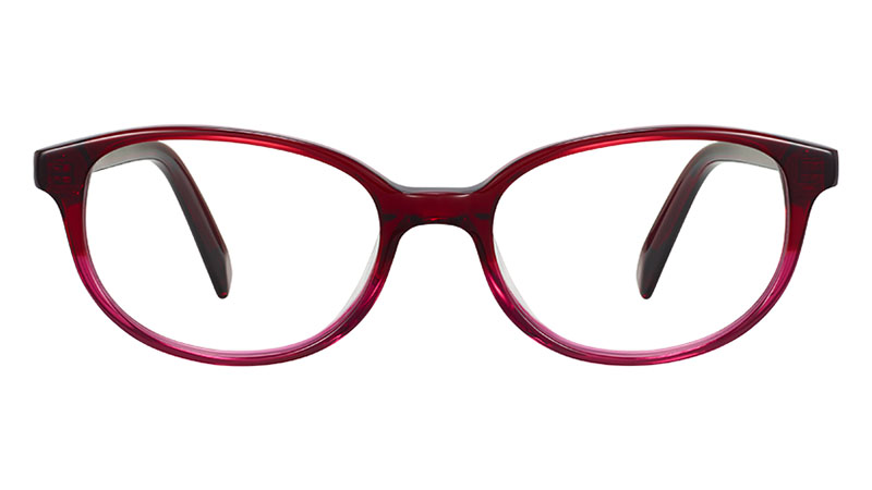 Warby Parker Ira Glasses in Berry Crystal Fade $95