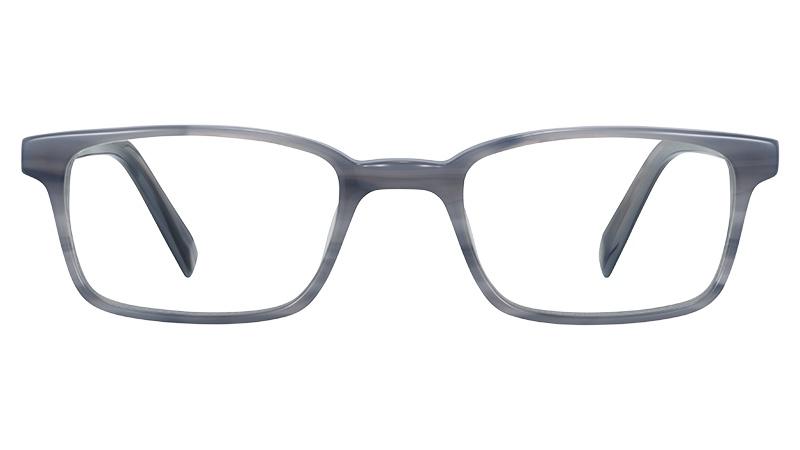 Warby Parker Langhorne Glasses in Marbled Grey $95