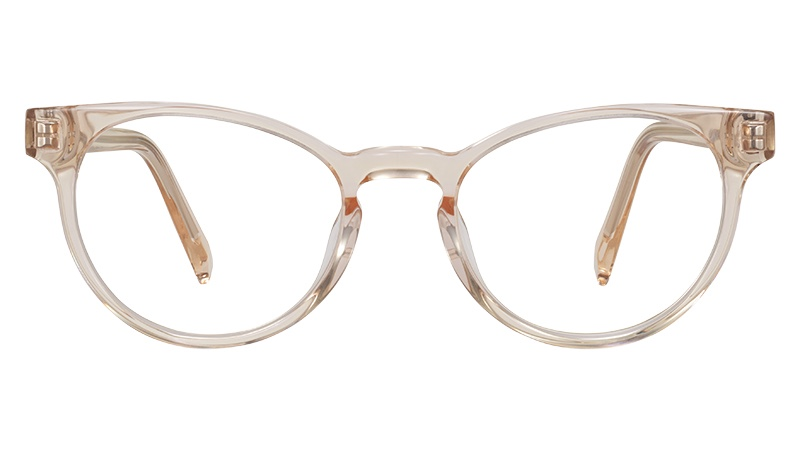 Warby Parker Leila Glasses in Grapefruit Soda $95