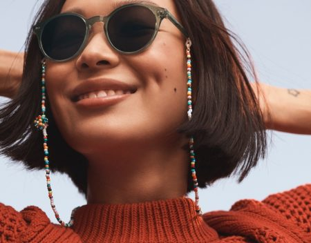 Roxanne Assoulin x Warby Parker glasses chains