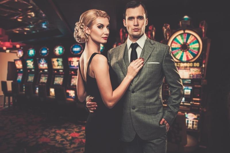 Well Dressed Retro Couple Casino Slot Machines