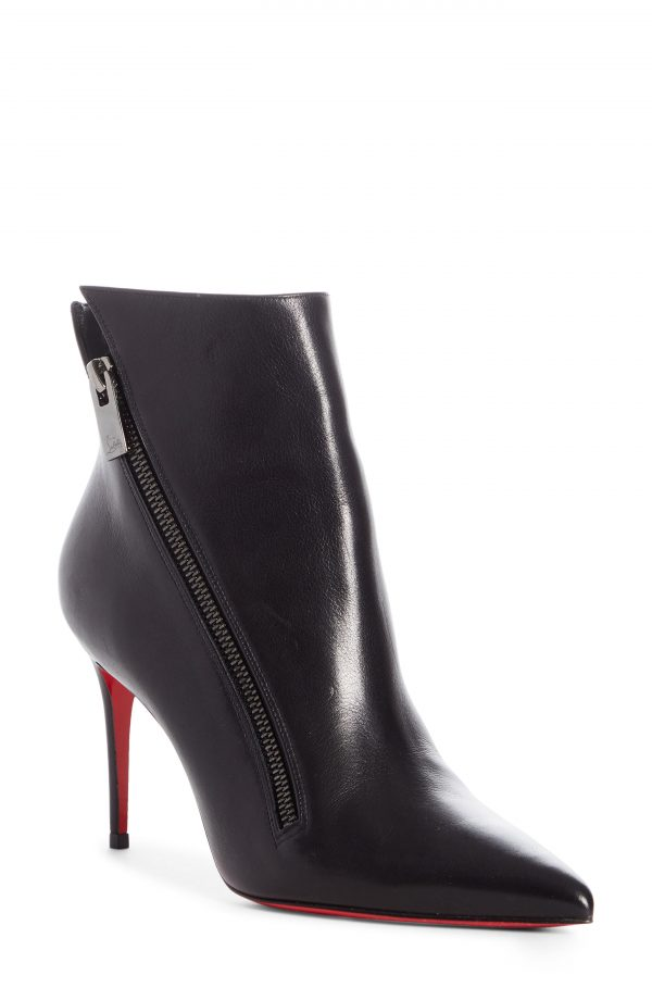 Women's Christian Louboutin Birgikate Stiletto Bootie, Size 4.5US - Black