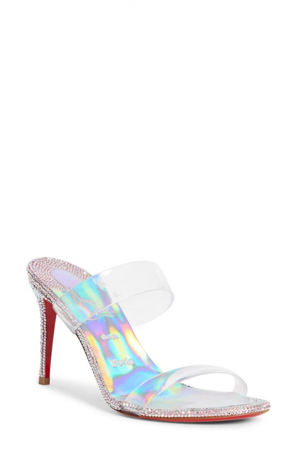 Women's Christian Louboutin Just Strass Sandal, Size 5.5US - Pink