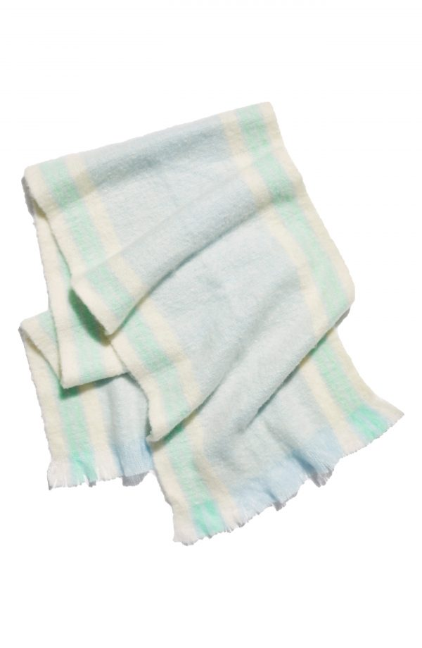 Women's Free People Brushed Racer Stripe Blanket Scarf, Size One Size - Blue