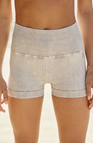 Women's Free People Fp Movement Good Karma Running Shorts, Size X-Small/Small - Grey