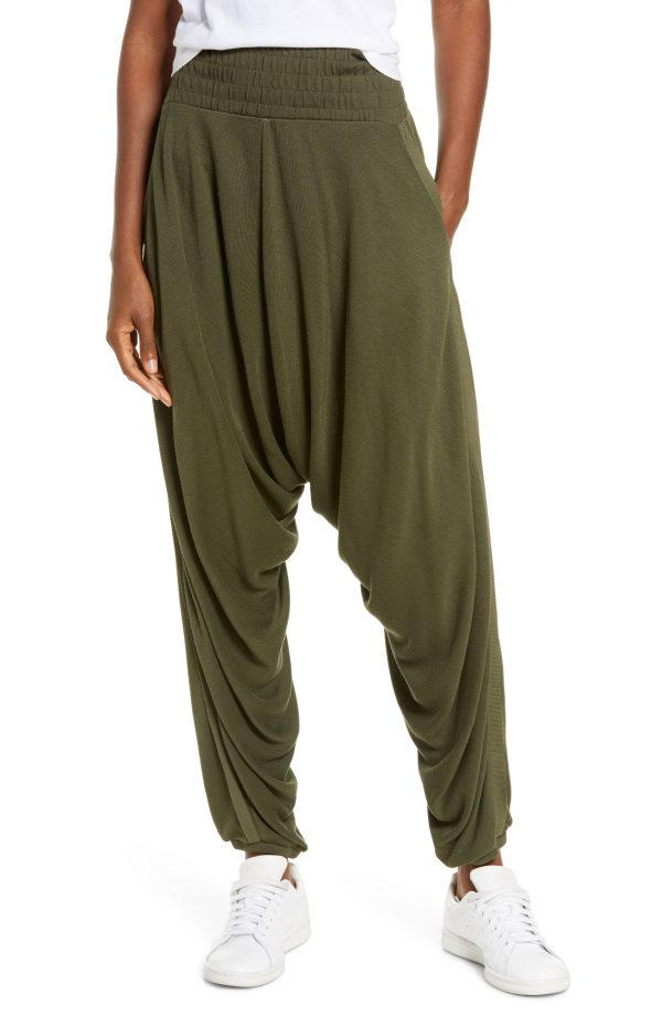 Women's Free People Fp Movement Windy Meadow Solid Harem Pants, Size X-Small - Beige