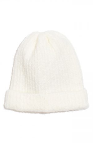 Women's Free People Lullaby Beanie - White
