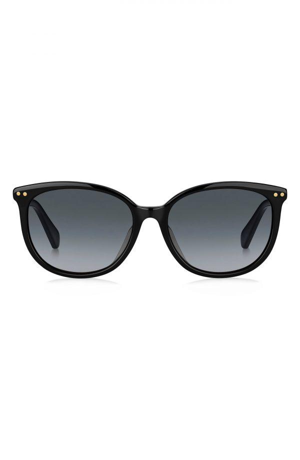 Women's Kate Spade New York Alina 55mm Gradient Cat Eye Sunglasses - Black/ Dark Grey Gradient