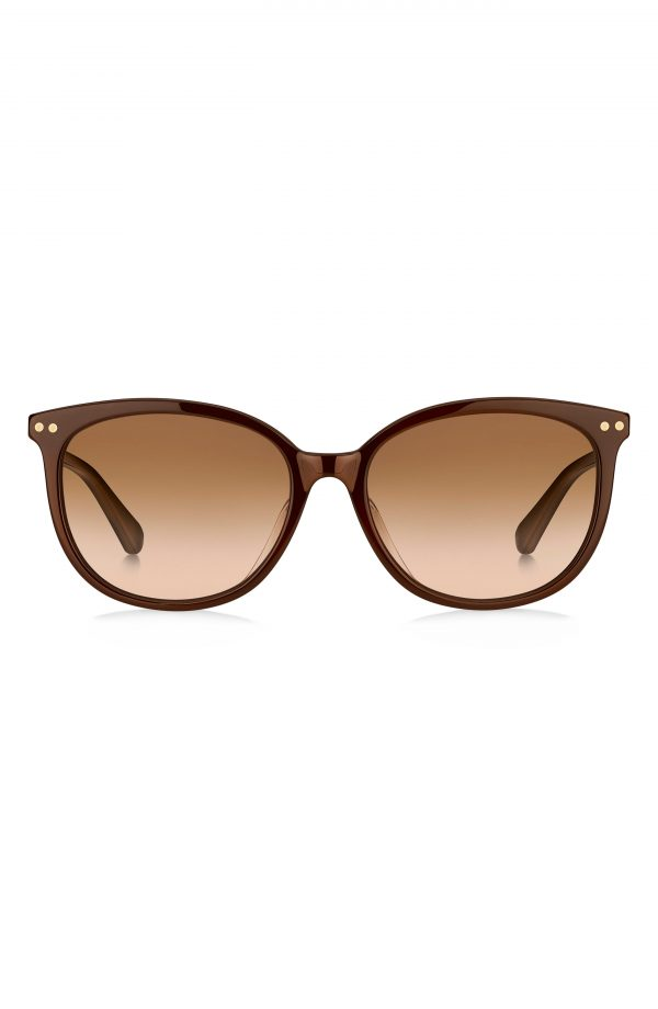Women's Kate Spade New York Alina 55mm Gradient Cat Eye Sunglasses - Brown/ Brown Gradient