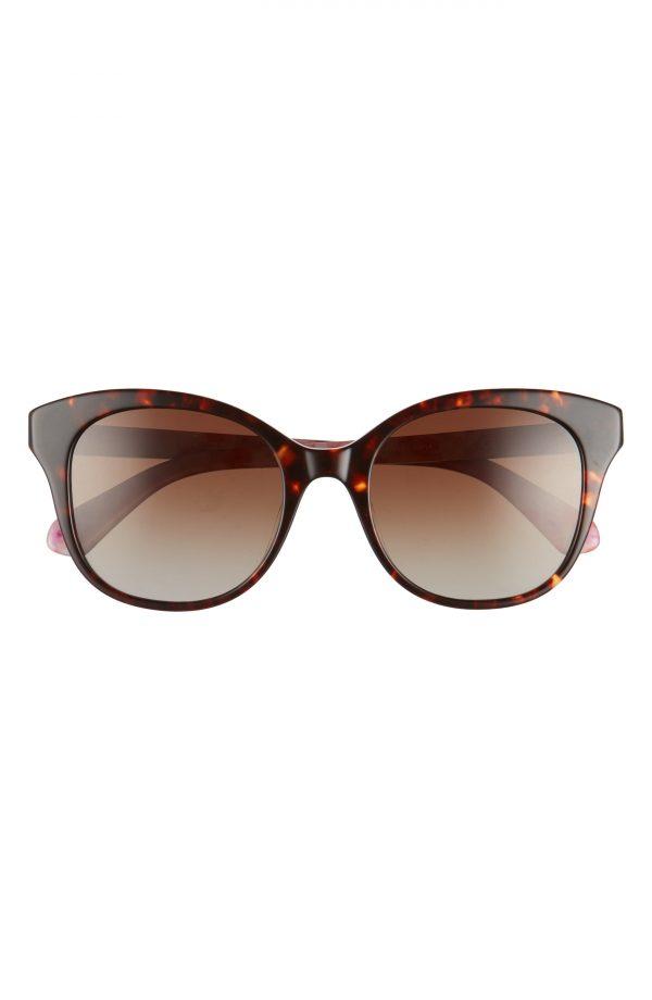 Women's Kate Spade New York Bianka 52mm Polarized Cat Eye Sunglasses - Havana/ Pink/ Brown Gradient