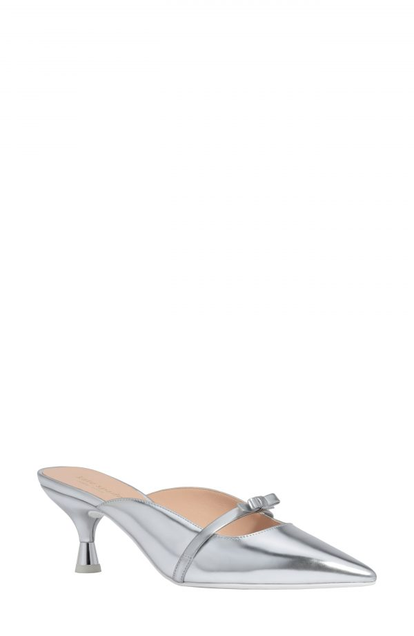 Women's Kate Spade New York Carnation Pointed Toe Mule, Size 5 B - Metallic