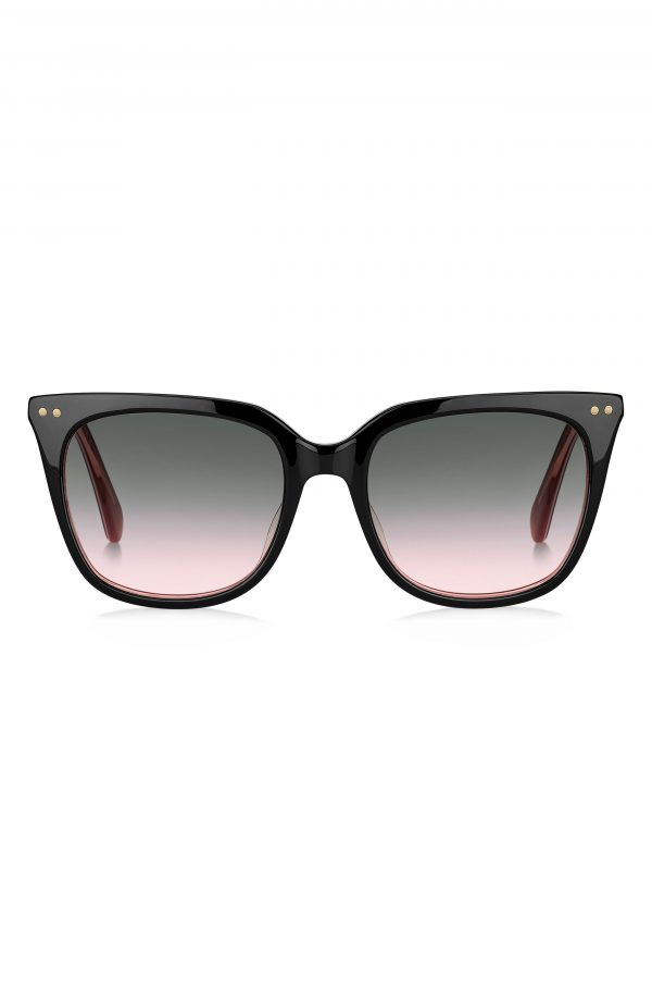 Women's Kate Spade New York Giana 54mm Gradient Cat Eye Sunglasses - Black/ Green Pink Gradient