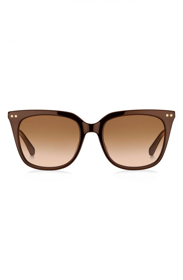 Women's Kate Spade New York Giana 54mm Gradient Cat Eye Sunglasses - Brown/ Brown Gradient