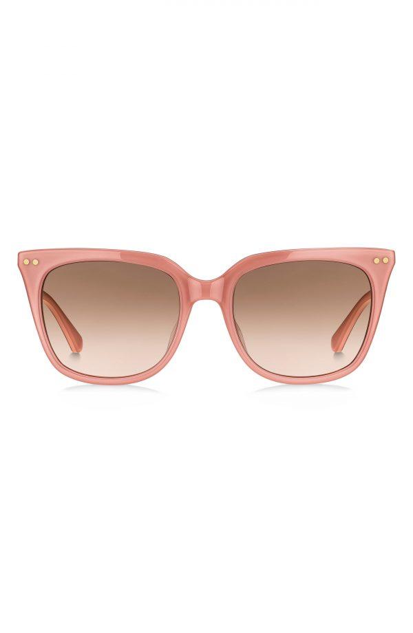 Women's Kate Spade New York Giana 54mm Gradient Cat Eye Sunglasses - Pink/ Brown Pink Gradient