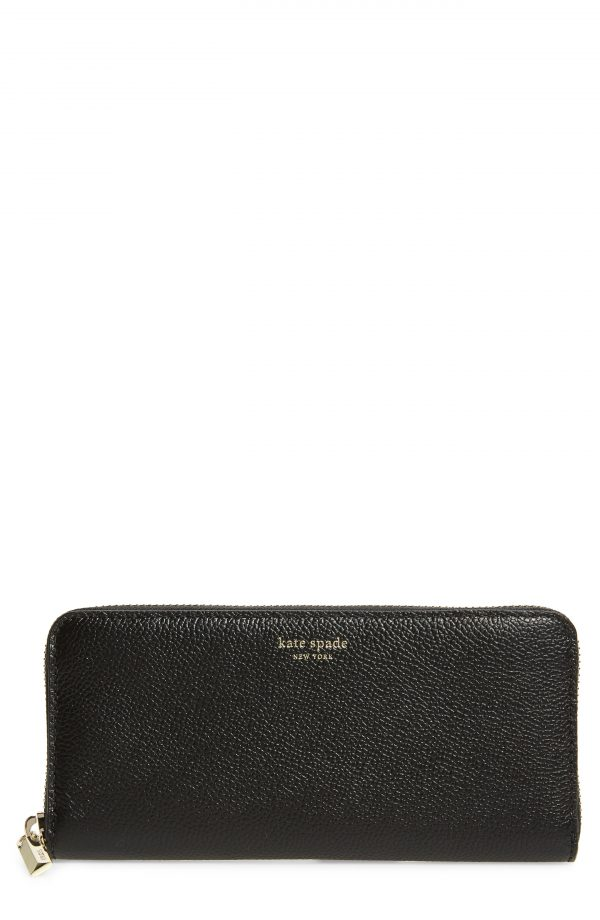 Women's Kate Spade New York Margaux Leather Continental Wallet - Black