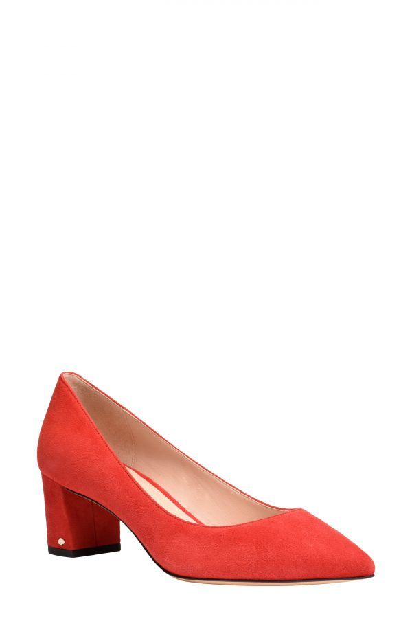 Women's Kate Spade New York Menorca Pointed Toe Pump, Size 5 B - Red