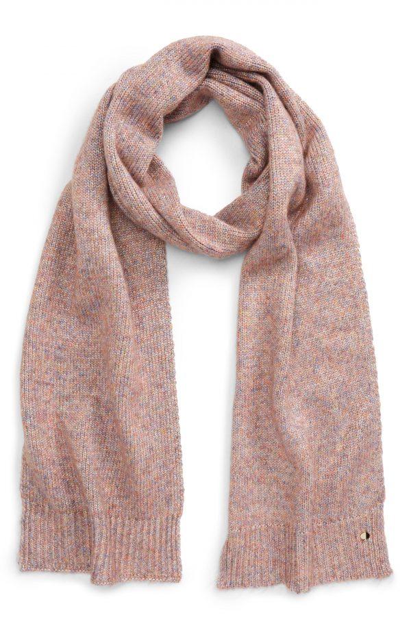 Women's Kate Spade New York Metallic Knit Scarf, Size One Size - Pink