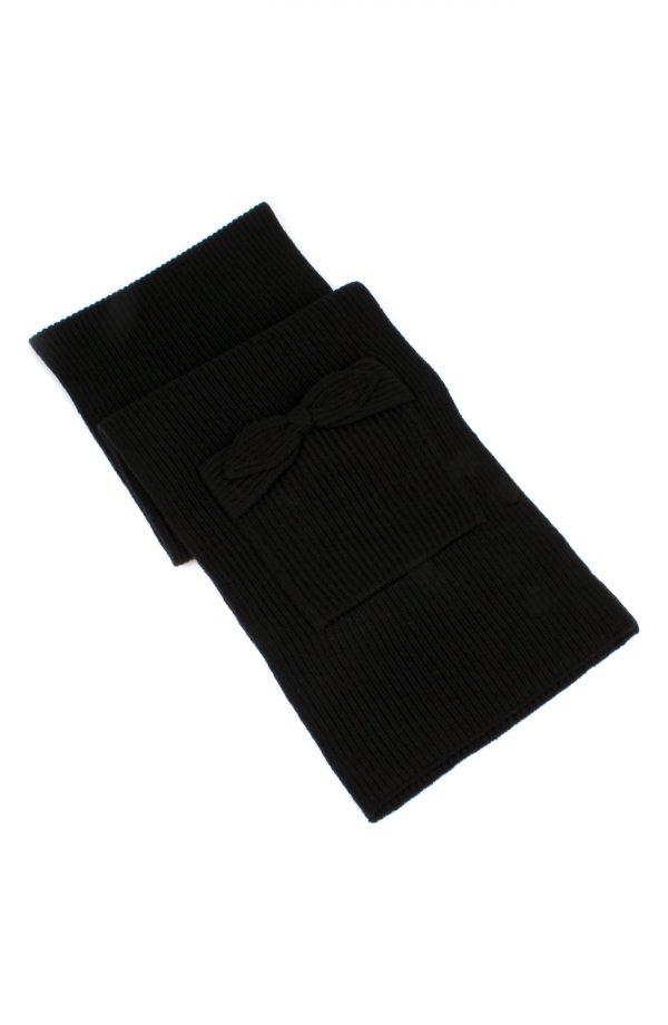 Women's Kate Spade New York Pointy Bow Pocket Scarf, Size One Size - Black