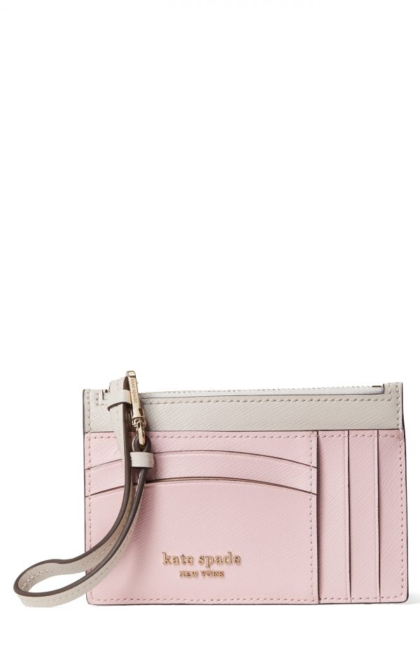Women's Kate Spade New York Spencer Leather Wristlet Card Case - Pink