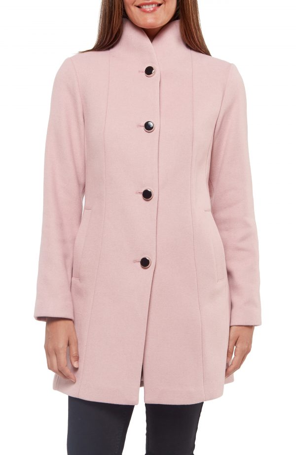 Women's Kate Spade New York Wool Blend Twill Coat, Size X-Small - Pink