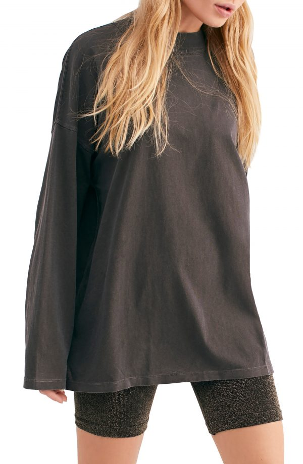 Women's We The Free By Free People Be Free Tunic T-Shirt, Size X-Small - Black