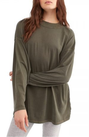 Women's We The Free By Free People Be Free Tunic T-Shirt, Size X-Small - Green