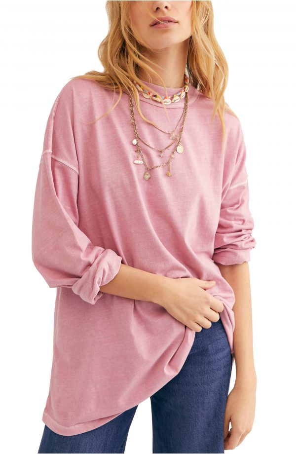 Women's We The Free By Free People Be Free Tunic T-Shirt, Size X-Small - Pink