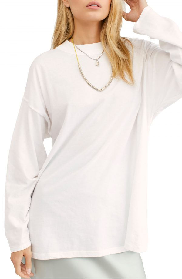 Women's We The Free By Free People Be Free Tunic T-Shirt, Size X-Small - White