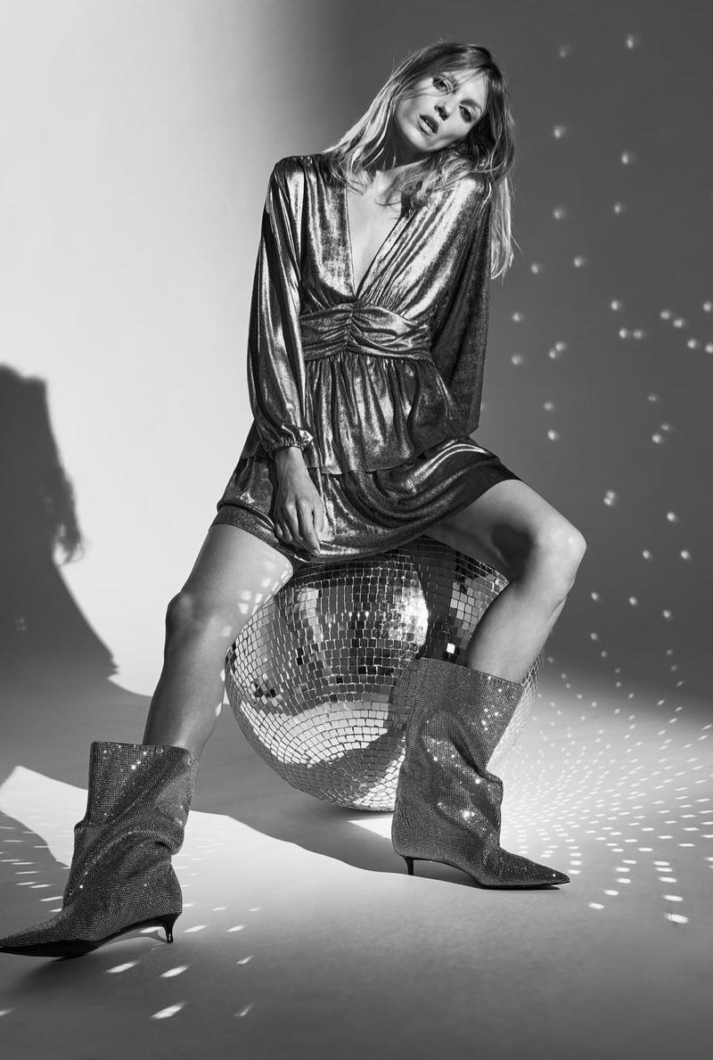 Zara Ruffled Mini Dress.