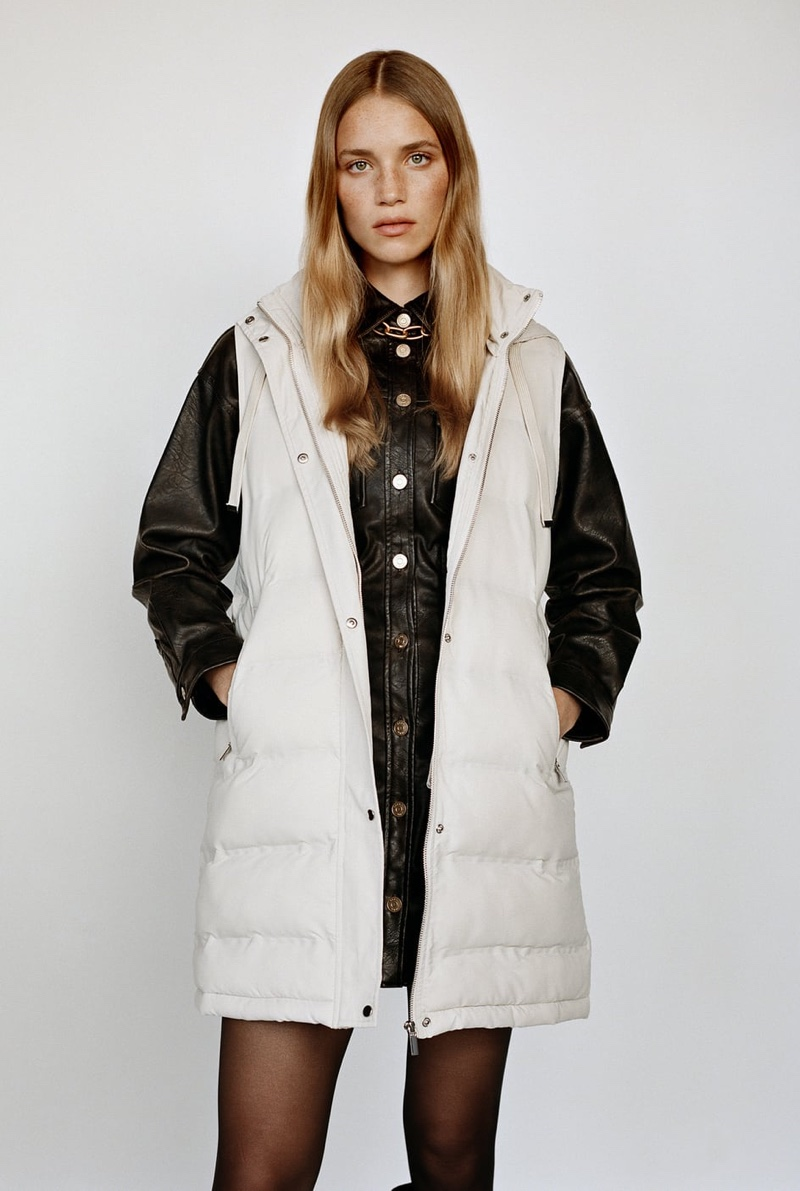 Zara Water And Wind Protection Padded Vest.