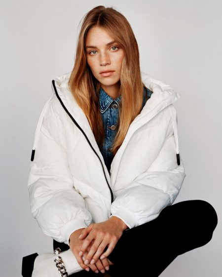 Zara Water Repellant Puffer Jacket.