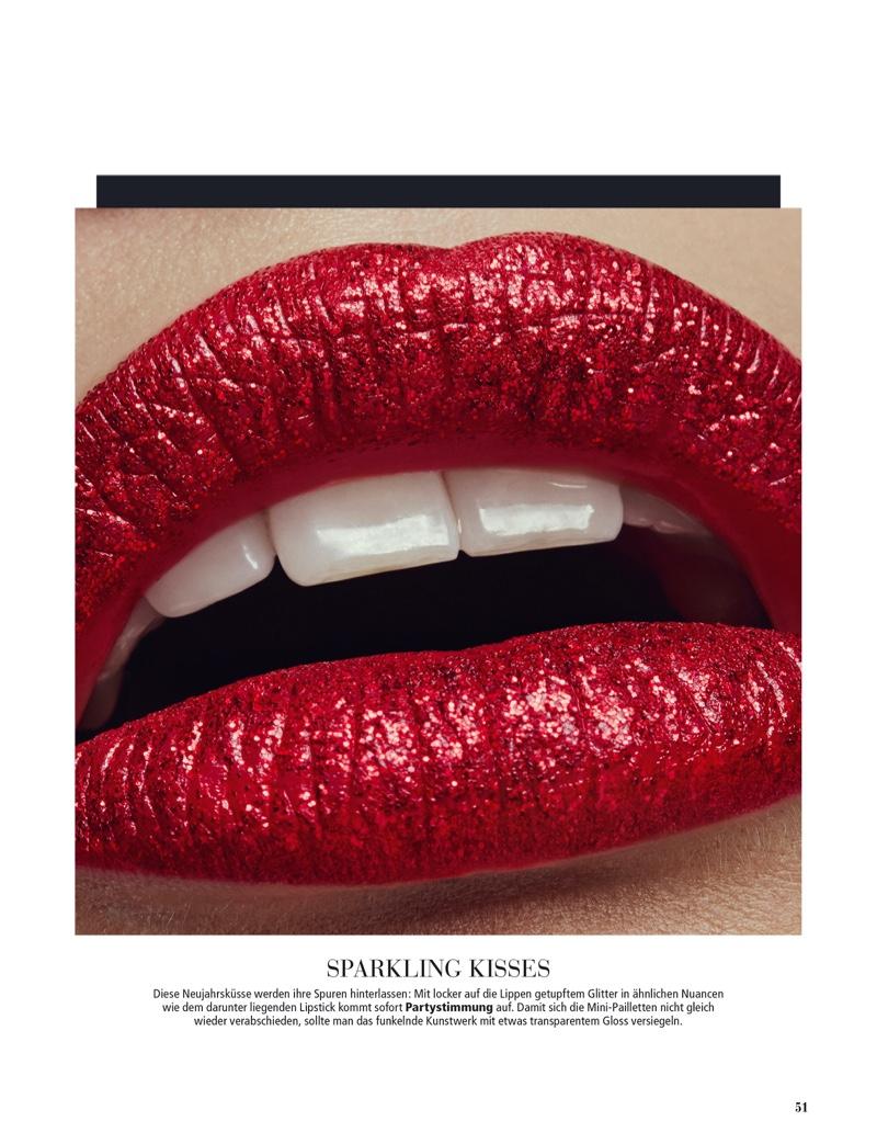 Anna Mila Guyenz Wears Festive Beauty for Madonna Style Book