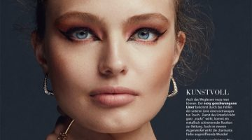 Anna Mila Guyenz Wears Festive Beauty for Madonna Style Book