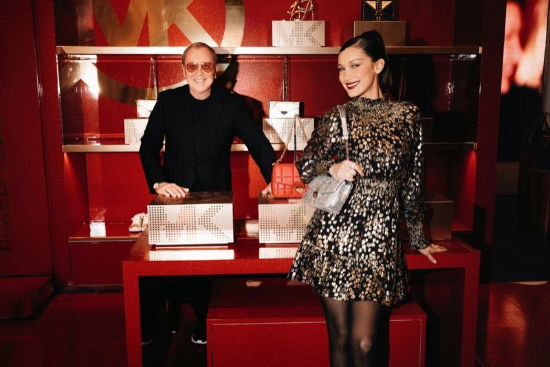 December 3rd, 2020: Designer Michael Kors and model Bella Hadid at MK Edited By in Macy's Herald Square.
