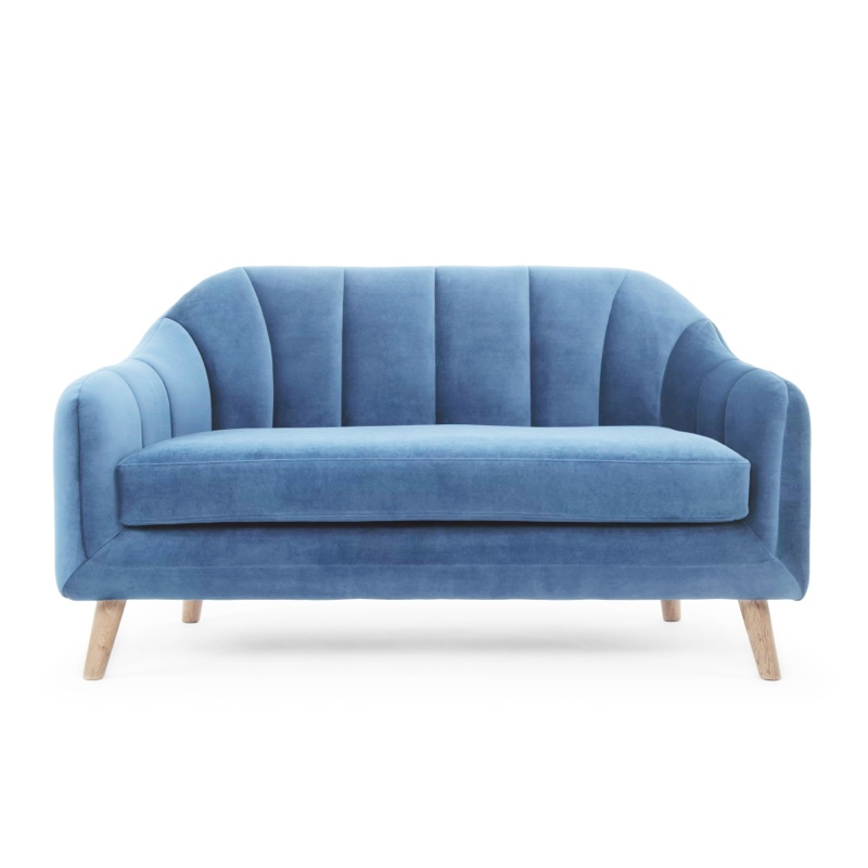 Blue Loveseat Sofa Minimal