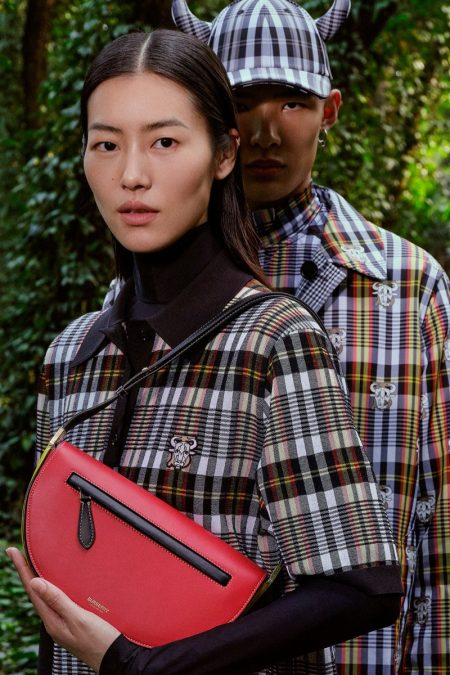 Liu Wen and Wang Xiangguo front Burberry Chinese New Year 2021 campaign.