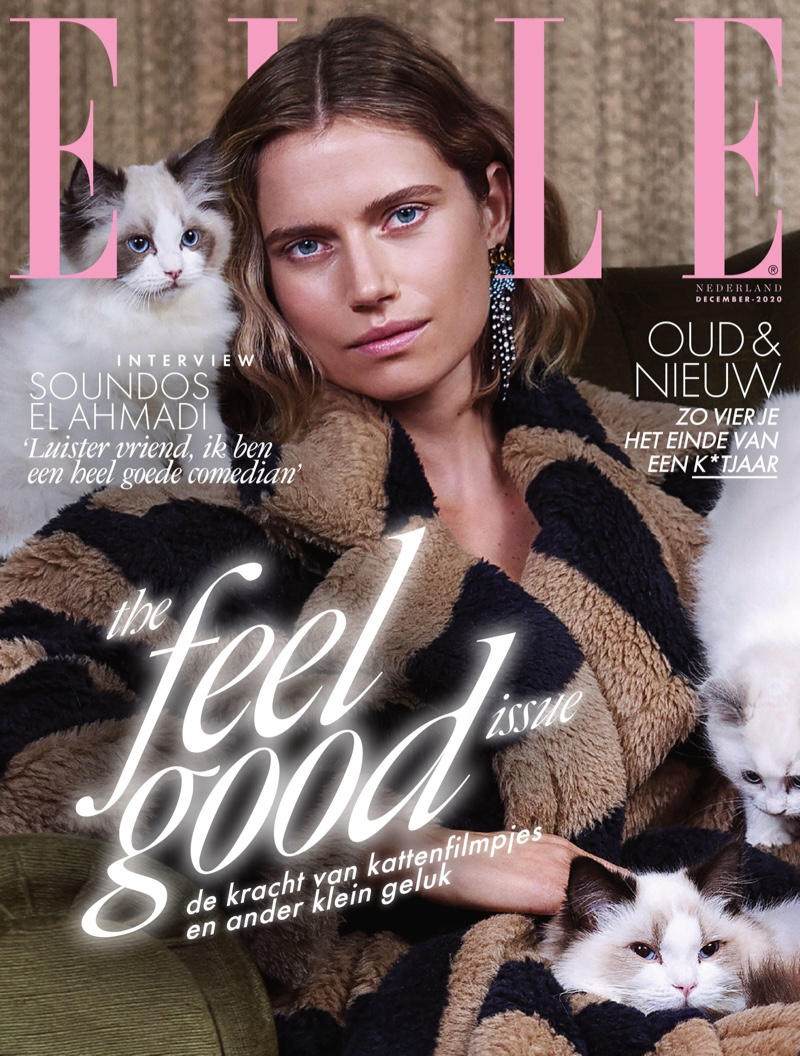 Cato Van Ee on ELLE Netherlands December 2020 Cover