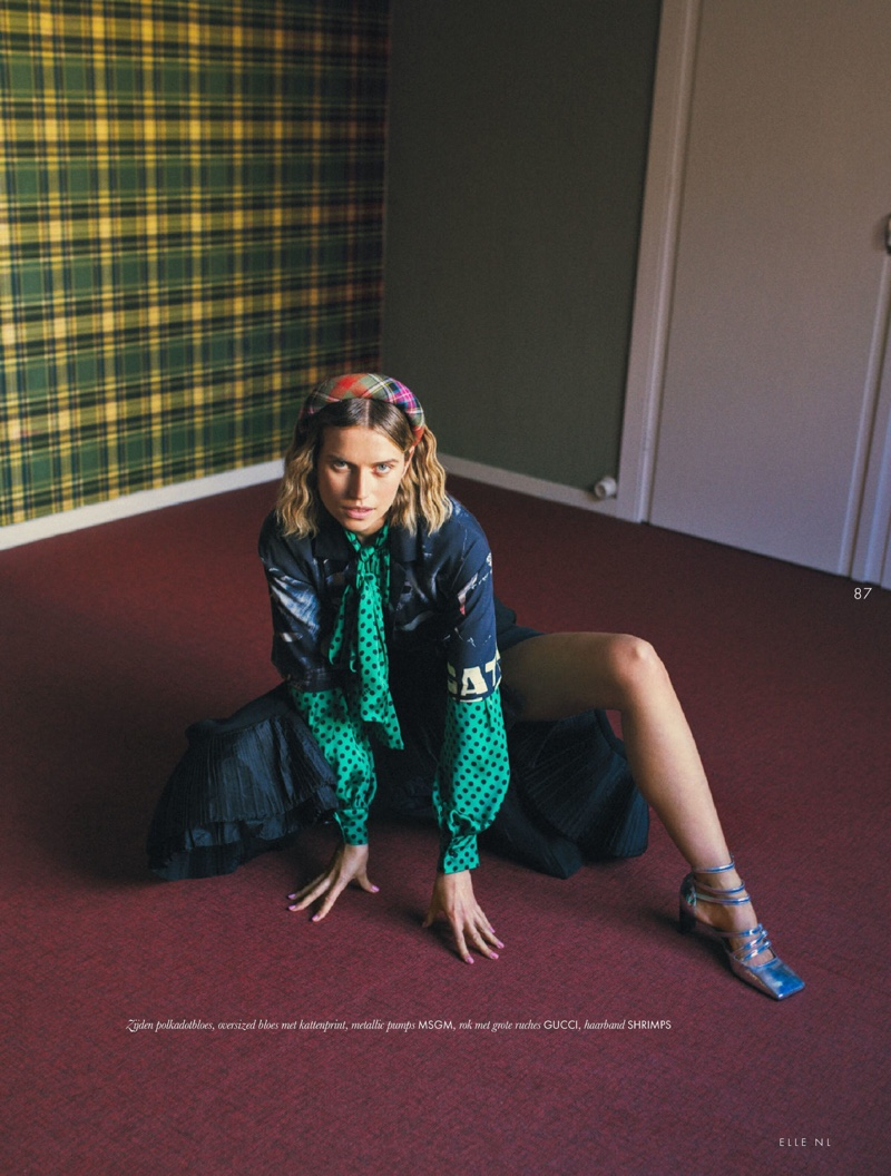 Cato Van Ee Models Eclectic Styles for ELLE Netherlands