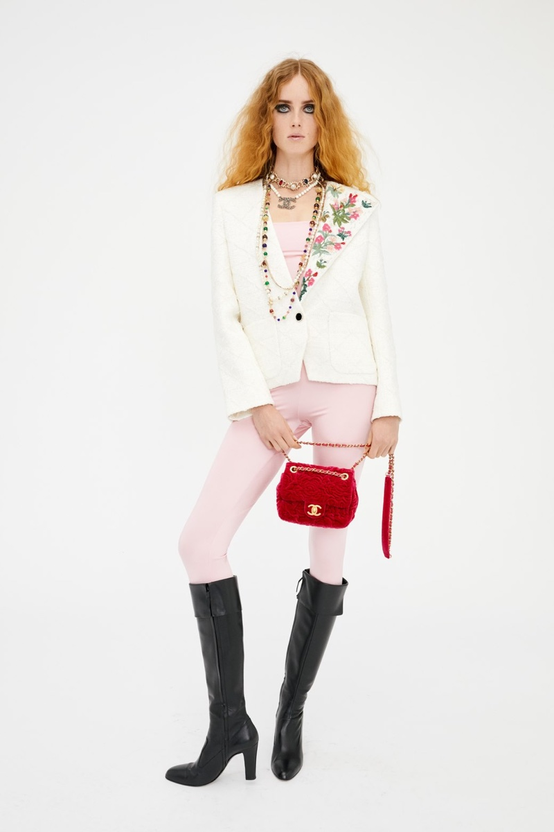 Model Rianne van Rompaey wears a look from Chanel Métiers d'Art pre-fall 2021 collection.