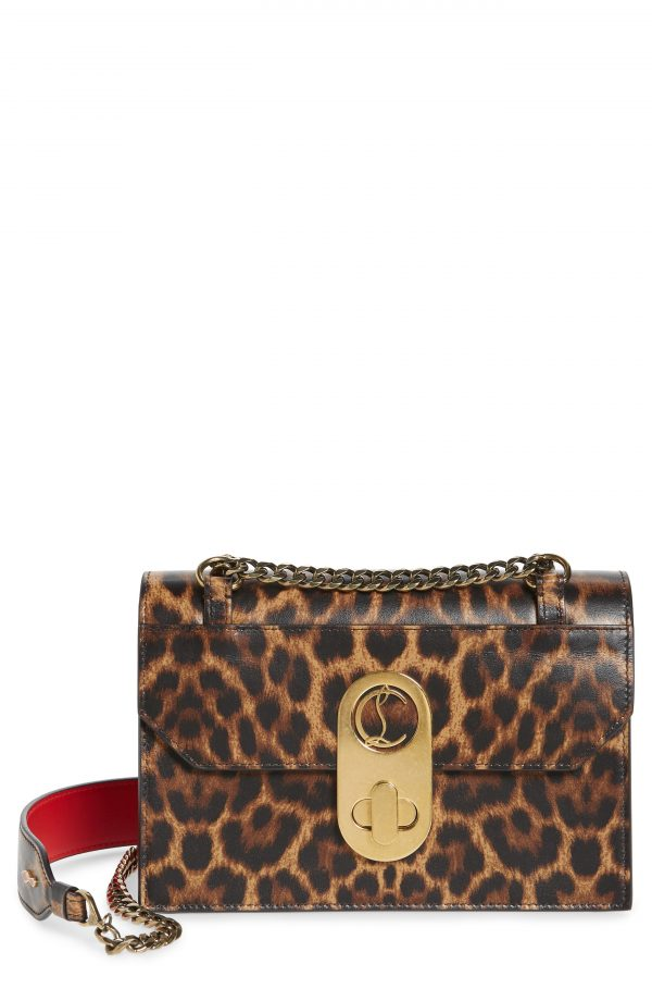 Christian Louboutin Small Elisa Calfskin Leather Shoulder Bag - Brown
